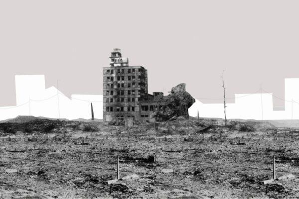 Satsuo Nakata, Chugoku Shimbun building, 10 August 1945.
