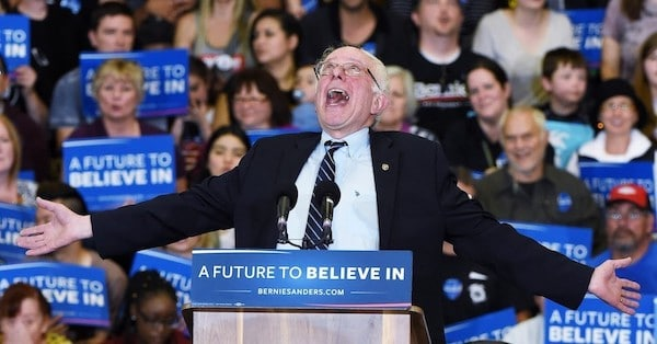Sen. Bernie Sanders (I-Vt.) reported a $24 million haul for his presidential campaign in the second quarter, $18 million of which came from small dollar donations. (Photo: Ethan Miller/Getty Images)