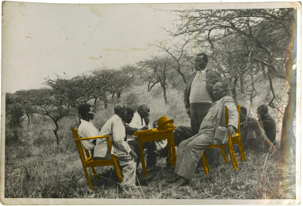 A.W.G. Champion )standing) and his best friend Mr. Tom Gwala (sitting), member of the I.C.U.