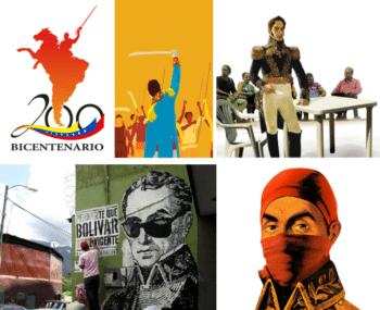 Five interpretations of Simon Bolivar by Comando Creativo. (Comando Creativo)