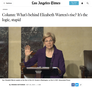 LA Times on Warren