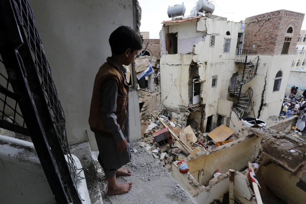 | A neighborhood in Sana Yemen a day after it was hitby a Saudiled airstrike | MR Online