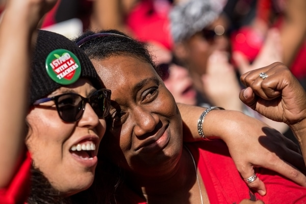 Workers have plenty to cheer this labor day. (Photo by Scott Heins:Getty Images)