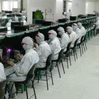 An electronics factory in Shenzhen, China