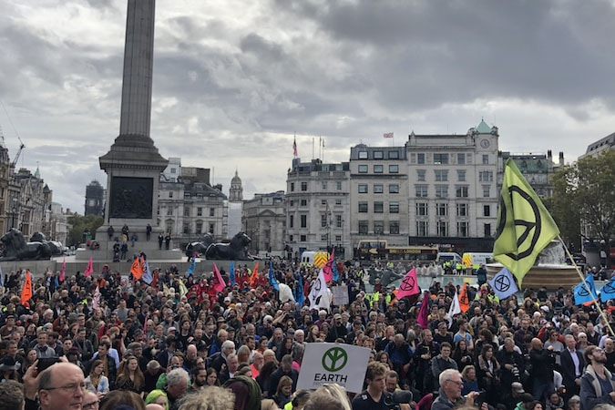 | Extinction Rebellion protesters gather in Trafalgar Square despite a police order banning their assembly Photo Natalie Sauer | MR Online