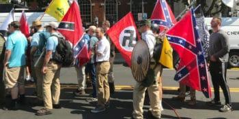 Fascists march in Charlottesville (cc photo- Tony Crider)