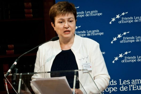 Kristalina Georgieva, selected as Managing Director of the IMF on September 25, 2019