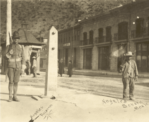 The border at Nogales in the early twentieth century.