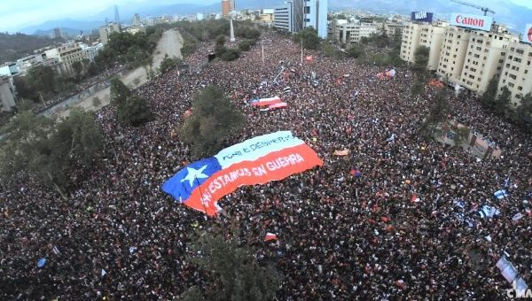 The popular movement against Piñera's neoliberal government and its repressive policies, is unprecedented in Chile's modern history | Photo- teleSUR