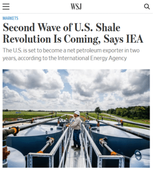 "Fracking ""has dramatically reshaped the global oil industry over the past decade,"" the Wall Street Journal (3/11/19) reports—with no mention of how it's reshaping the Earth's atmosphere."