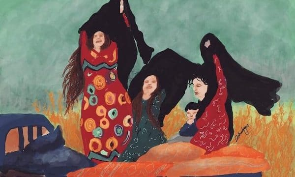Zehra Dogan, The Mourners.
