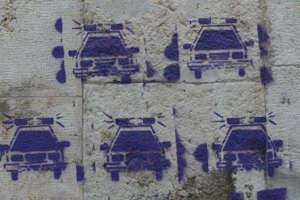 Cop car graffiti