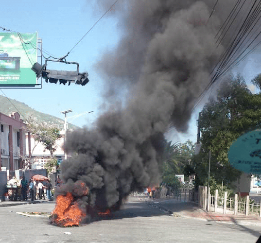 Hundreds of photos of burning barricades in the streets have been circulating on WhatsApp