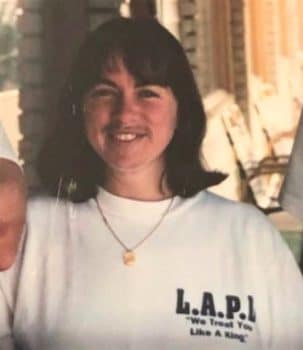 "Acting Philadelphia Police Chief Christine Coulter proudly wears her T-shirt reading ""LAPD, We treat you like a King,"" referring to Rodney King."