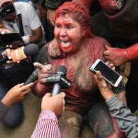 Bolivian Mayor, Patricia Arce, Covered in Paint, Dragged Through the Streets by Right Wing Fascists