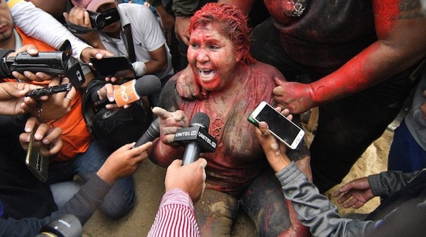 | Bolivian Mayor Patricia Arce Covered in Paint Dragged Through the Streets by Right Wing Fascists | MR Online