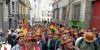 | Bolivian miners have mobilized en masse in support of President Evo Morales Photo Marco Teruggi Sputnik News | MR Online