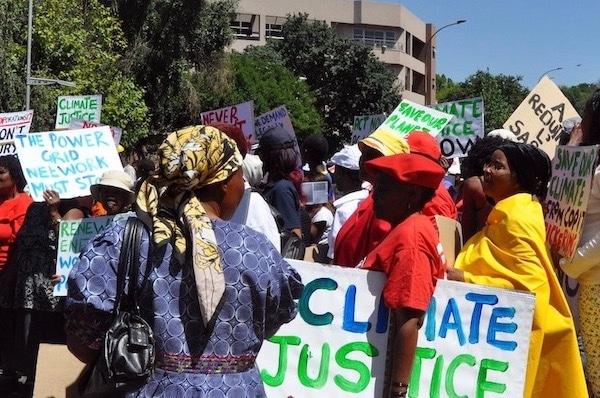 COP17 protest Johannesburg, 2011. Image credit Meraj Chhaya via Flickr.