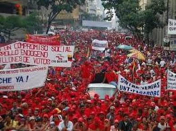 | Mass May Day 2019 mobilizations in Caracas defending national sovereignty against the USled virtual coup | MR Online