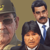 Featured image: Daily Beast photo illustration (11/13/19) of Raul Castro, Evo Morales, Nicolas Maduro and Daniel Ortega.