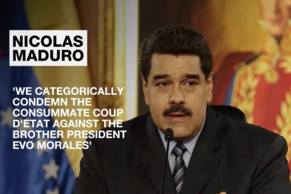 | Nicolas Maduro on Bolivia coup | MR Online