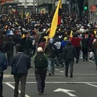 Protest march in Ecuador (photo- Voice of America, 10:11:19)