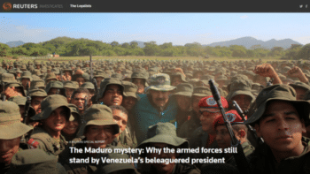 "Reuters (7/28/19) ponders the ""mystery"" of why Venezuela's military hasn't overthrown the elected government."
