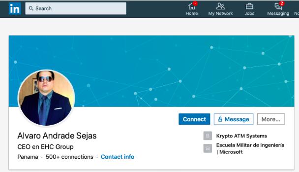 Alvaro Andrade Sejas' LinkedIn profile