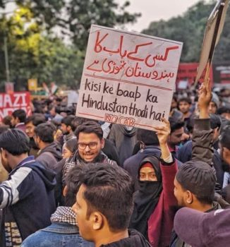 'This is Not Your Dad's India'. Protest in New Delhi, December 2019.