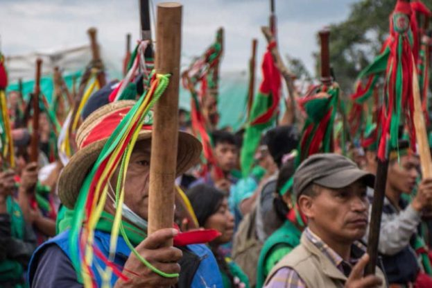 National Indigenous March, May 2016, Department of Cauca. Credit: Marcha Patriótica's communication team.