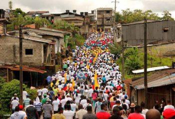 Mobilisation in the Department of Cauca. Peasant Association of Catatumbo — Ascamcat.