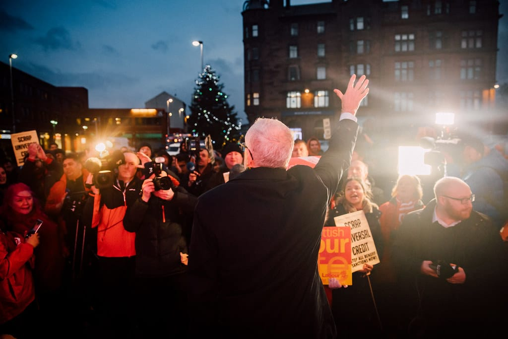 | Jeremy Corbyn at a rally in Glasgow Scotland | MR Online