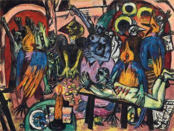 Max Beckmann, Hölle der Vögel, 1937-38.