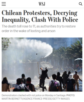 "Phrases like ""Demonstrators clashed with riot police"" (Wall Street Journal, 10/21/19) give protesters the active role and present police as passive participants."