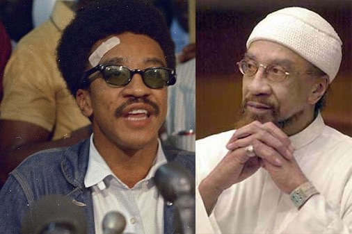 "Hubert ""Rap"" Brown (left), who is today Jamil Abdullah Al-Amin (right)"