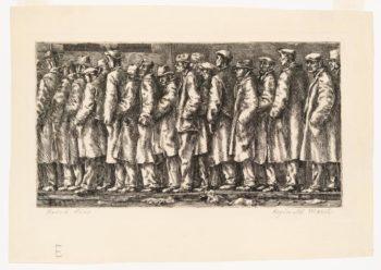 Reginald Marsh, Bread Line – No One Has Starved, 1932.