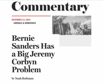 Sanders has a big Corbyn Problem