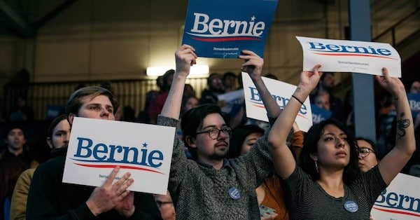 Supporters of Sen. Bernie Sanders (I-Vt.), a 2020 Democratic presidential candidate, look on at a rally at the University of Minnesota's Williams Arena on November 3, 2019 in Minneapolis, Minnesota. (Photo: Scott Heins/Getty Images)