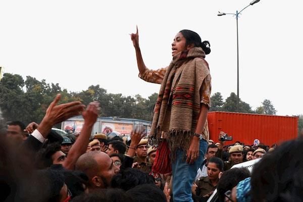 Vyshakh T (People's Dispatch), Aishe Ghosh, Student leader, Delhi December 2019.
