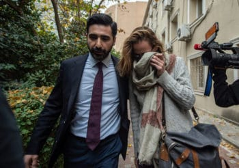 Winberg leaves after being questioned by Turkish police in Istanbul, Nov. 13, 2019. Photo | AP