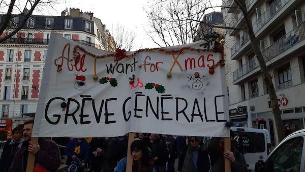 'Grévolution'- first round of a general strike