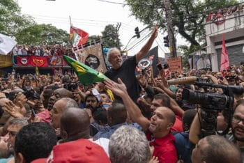 Rally celebrating Lula's release from prison
