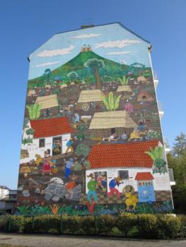 Monimbó mosaic in Berlin (copywright Gabriele Senft)