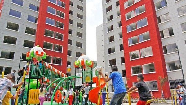 Dwillings built through the Venezuelan Great Housing Mission (GMVV), 2019. | Photo- Twitter : @jaarreaza