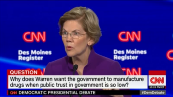 "Elizabeth Warren was also painted as a bearer of fringe ideas that ""will scare away swing voters."""
