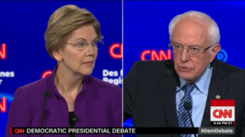 CNN's questioning assumed that Elizabeth Warren was telling the truth and Bernie Sanders was lying about a conversation they had more than a year ago.