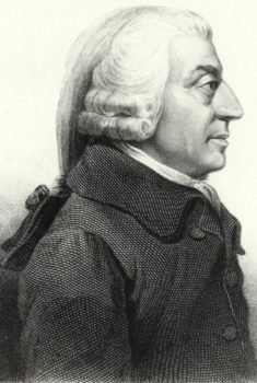 Father of modern economics, Adam Smith. Wikipedia