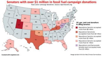 Fossil fuel campaign donations go mostly to Republicans