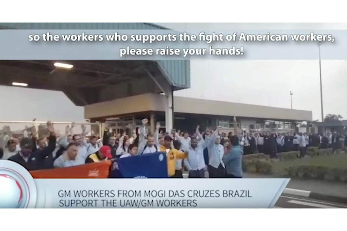 | GM workers in Brazil in support of the strike | MR Online