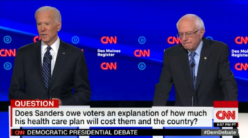 CNN asked both Joe Biden and Bernie Sanders if Sanders should explain how much his healthcare plan will cost.